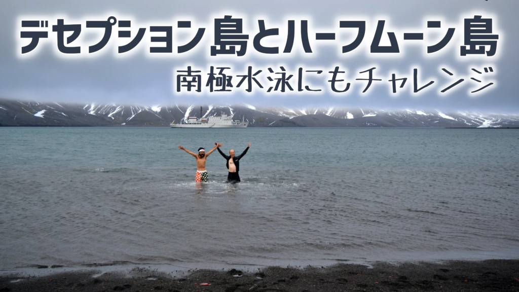 デセプション島で南極水泳