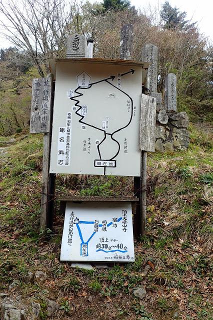 山上ヶ岳への道
