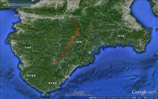 大峯奥駈道地図