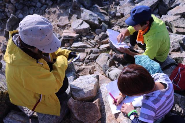 山で地図読み