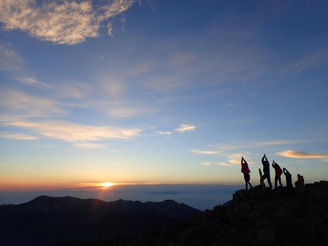 早朝の大喰岳