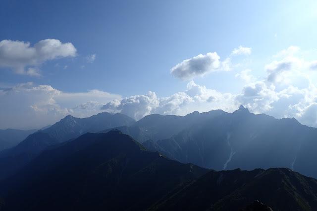 大天井岳から槍穂高