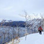 冬の摩周湖でスノーシューハイキング