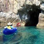 高知県の離島 沖の島でシーカヤック