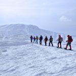 西吾妻山と蔵王山 樹氷の山をスノーシューで歩く