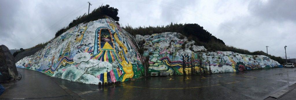 宝島の岸壁