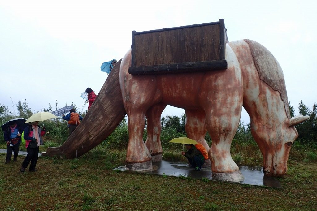 イマキラ岳展望台の馬