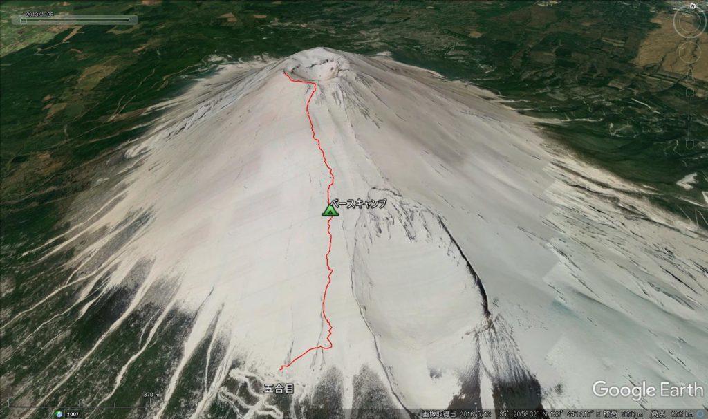 雪山富士山概念図