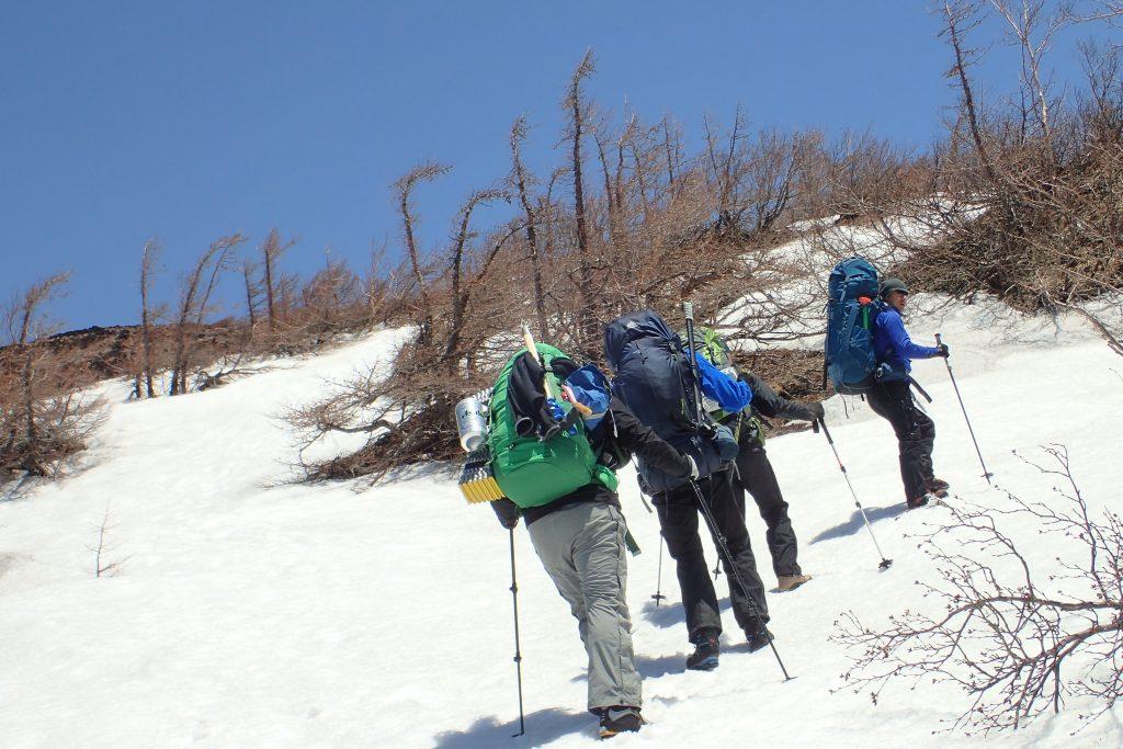 雪の富士宮口