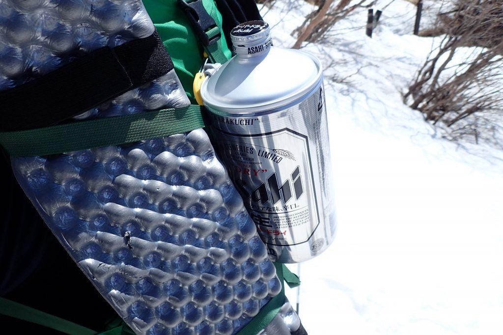 富士山へビール