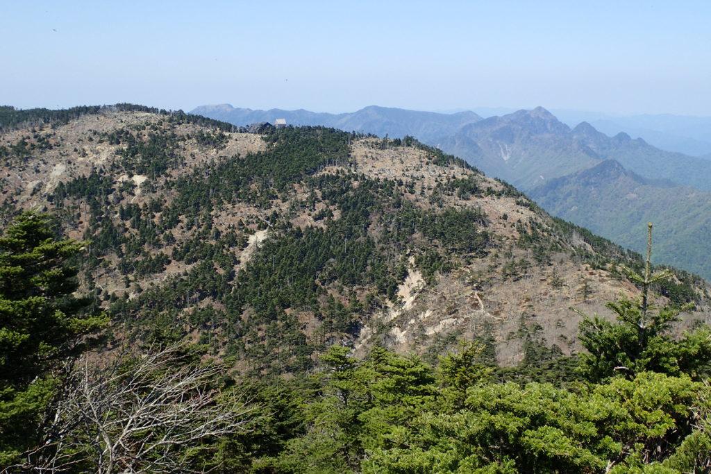 八経ヶ岳から山上ヶ岳