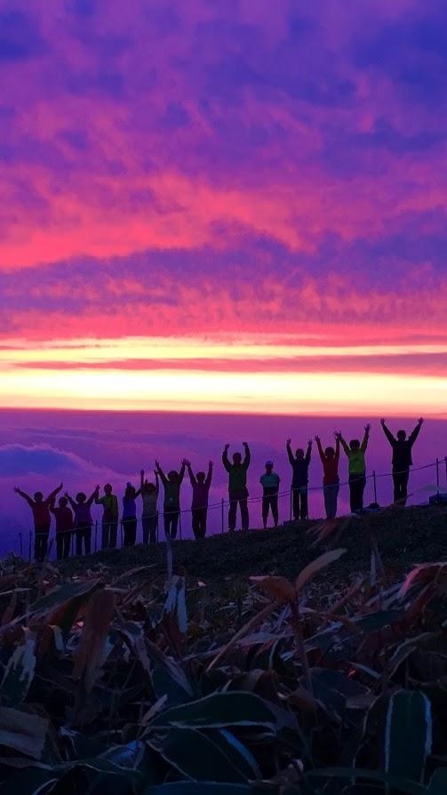 剣山の夕陽