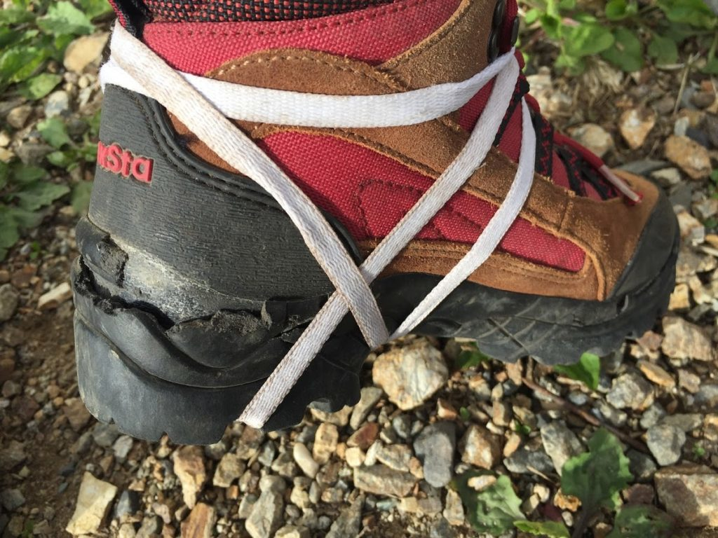 靴底の剥離