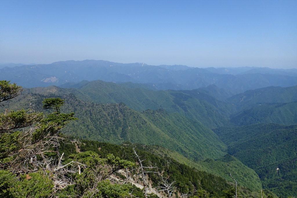 八経ヶ岳から大台ヶ原