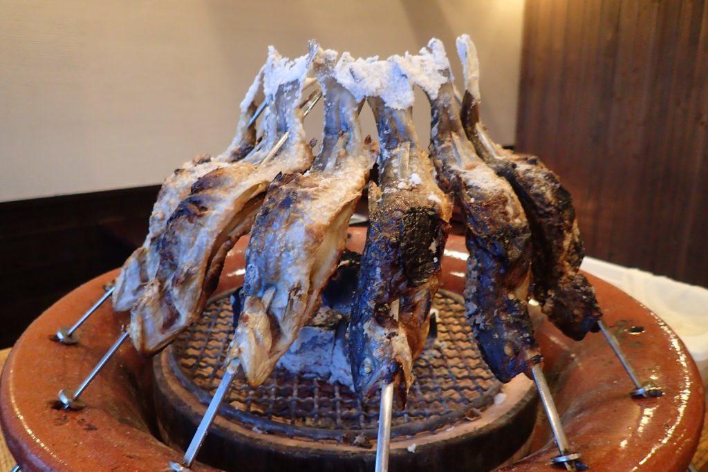 王ヶ頭ホテルの岩魚の塩焼き