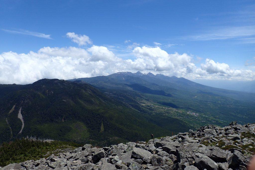 蓼科山から八ヶ岳