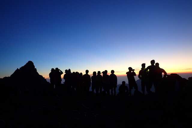 大喰岳の夜明け