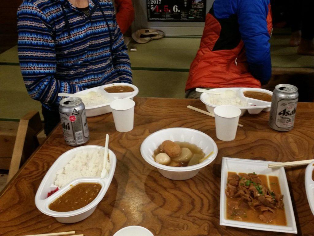 万年雪荘の食事