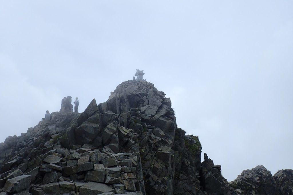 吊尾根からの奥穂高岳