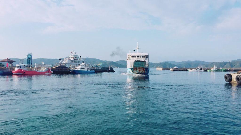 加計呂麻島への船