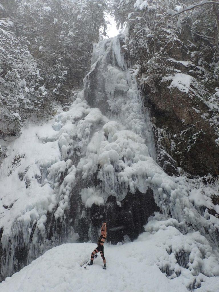 御船の滝 氷爆