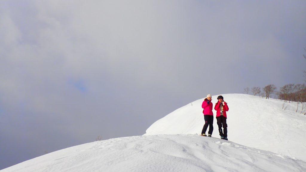 雪山でカップヌードル