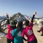 絶景を楽しめる 残雪の燕岳