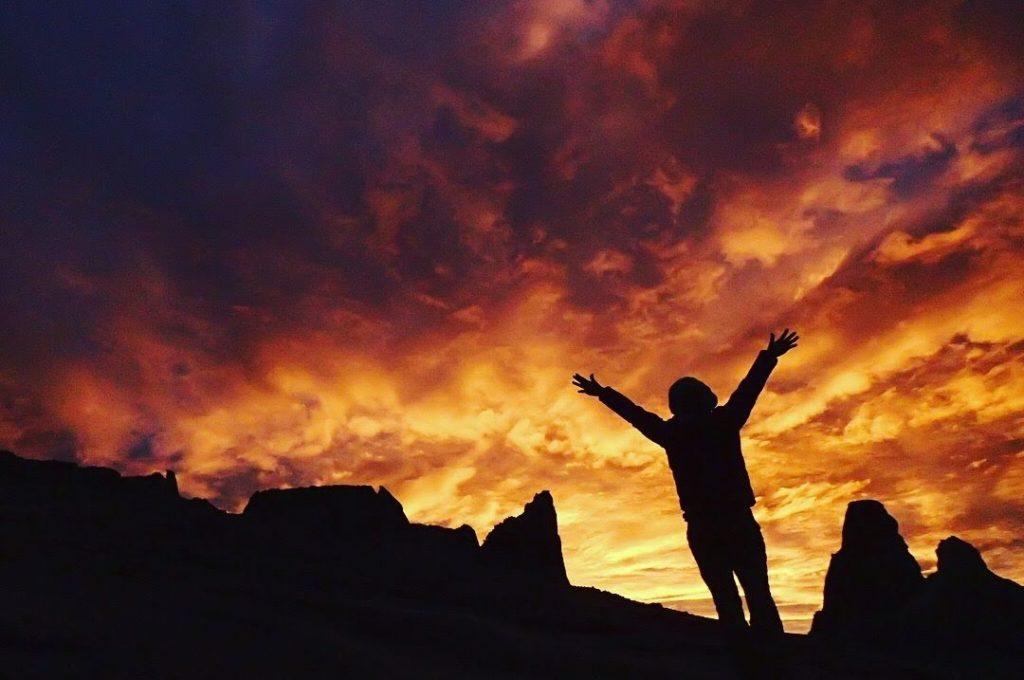 キナバル山の朝