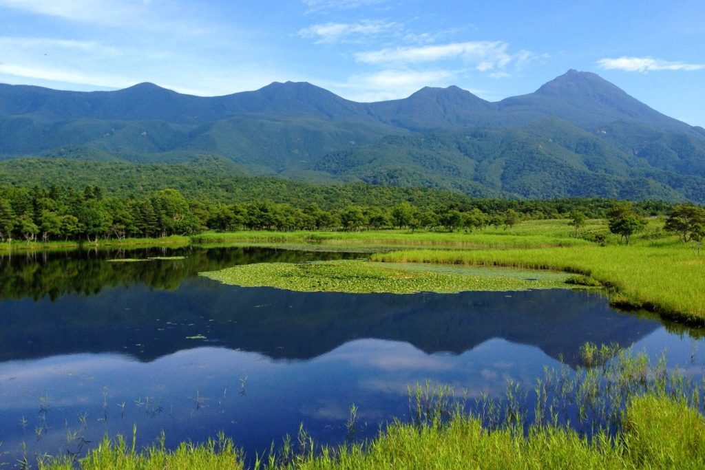 知床五湖からの羅臼岳