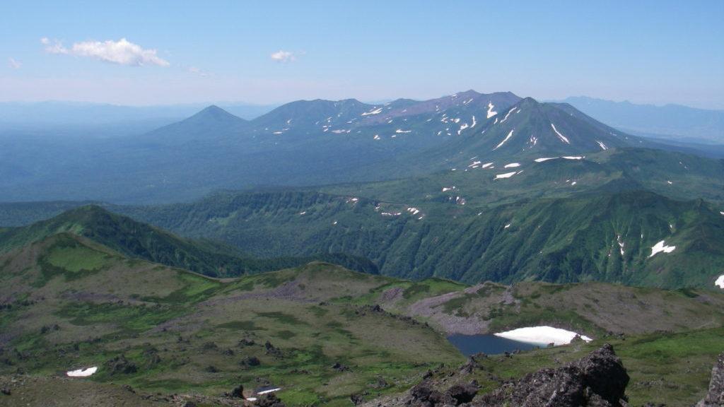 トムラウシ山からの十勝岳