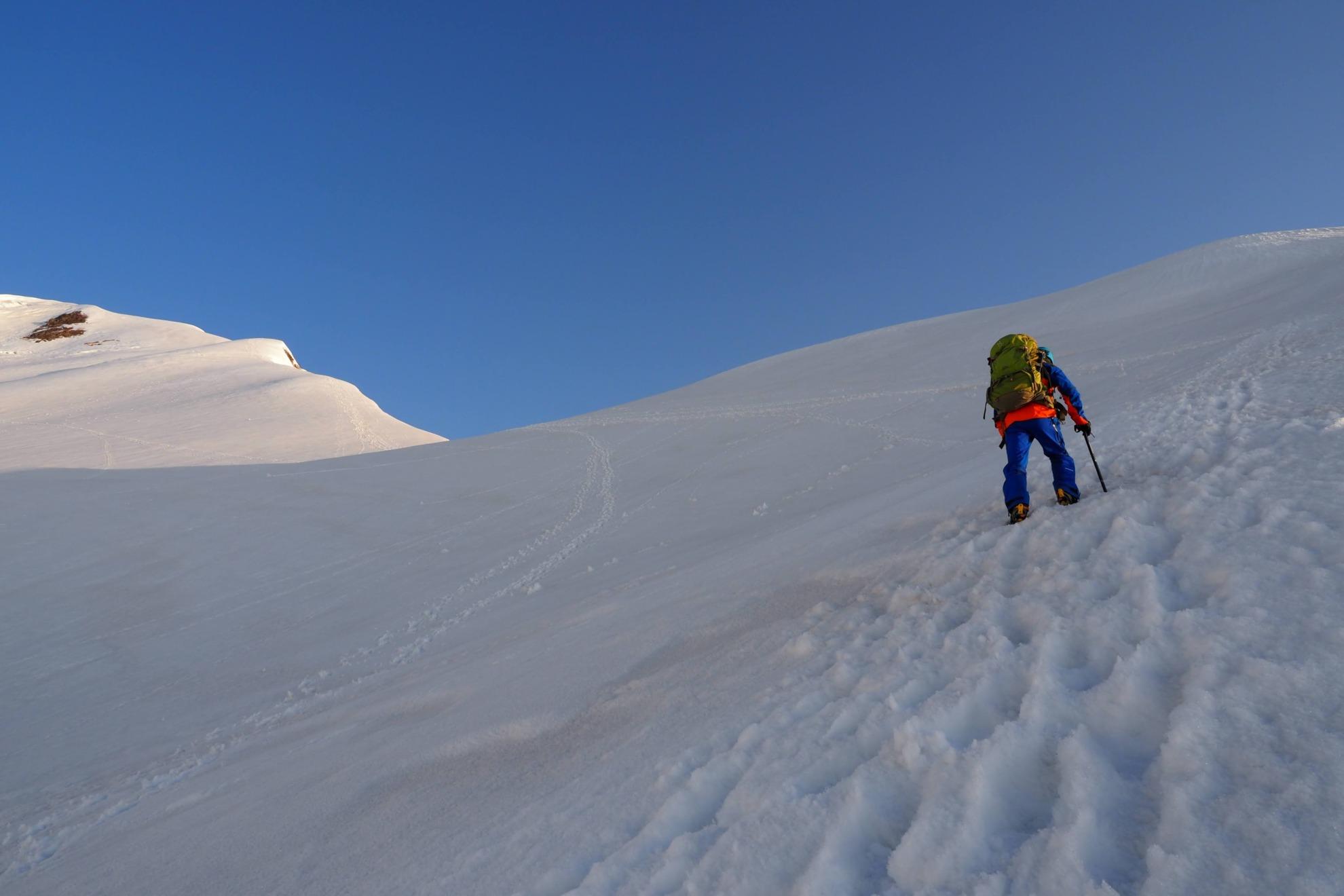 白岳の急登