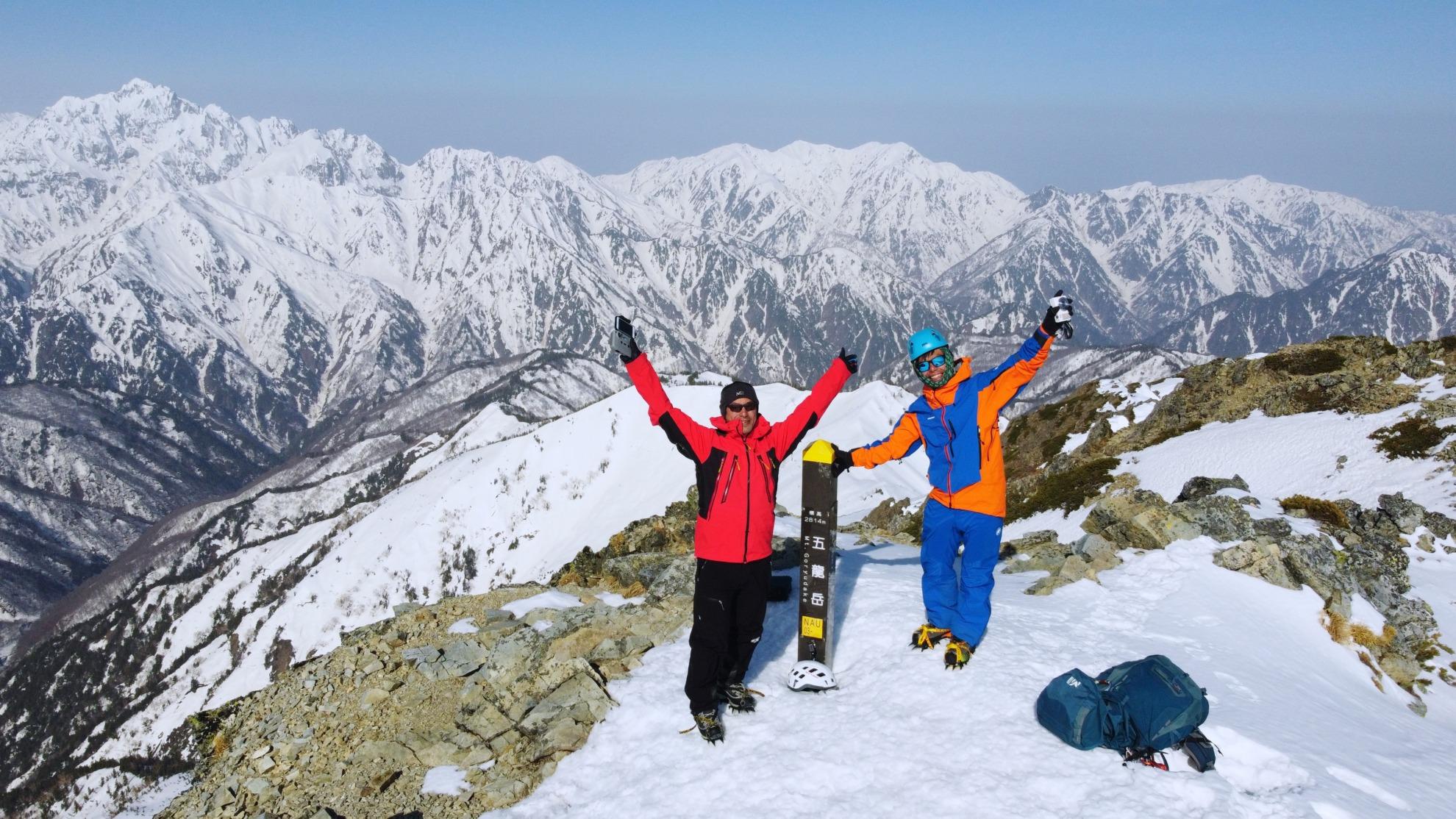 雪の五竜岳山頂