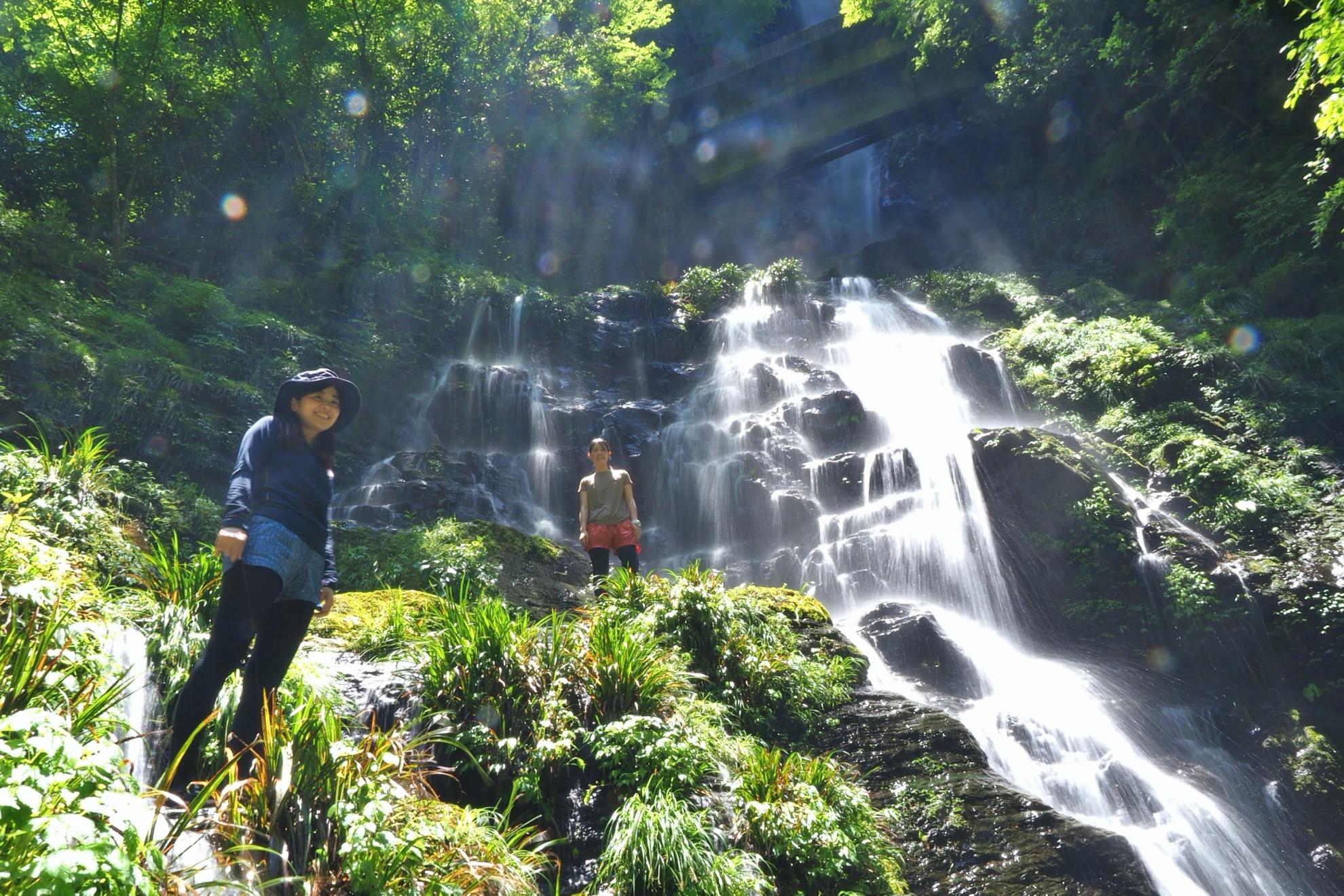 背竜の滝 沢登り 安居渓谷