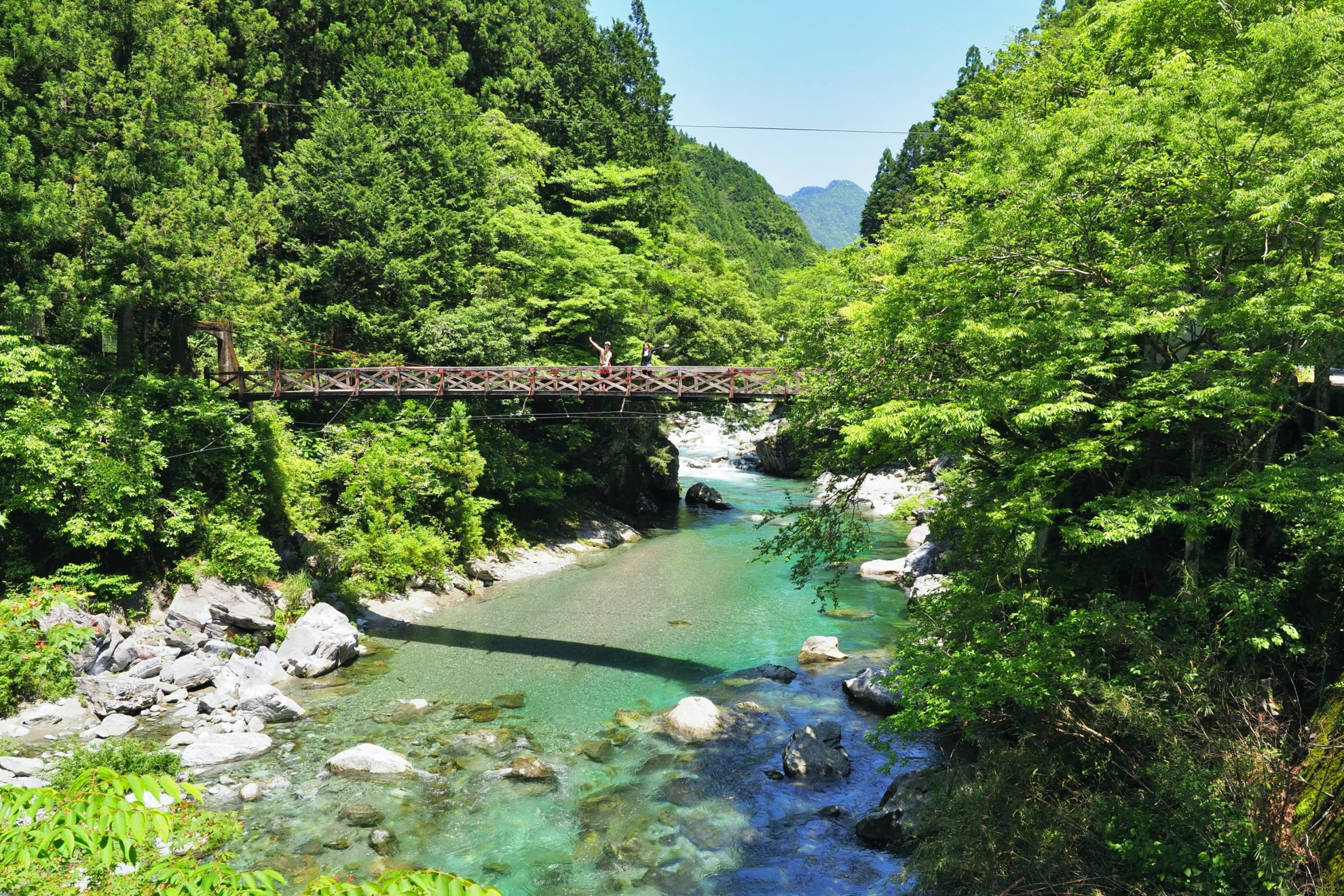 安居渓谷 吊橋