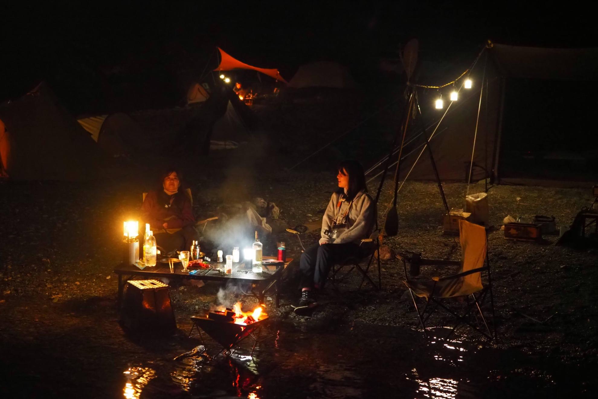 キャンプで極上の夜