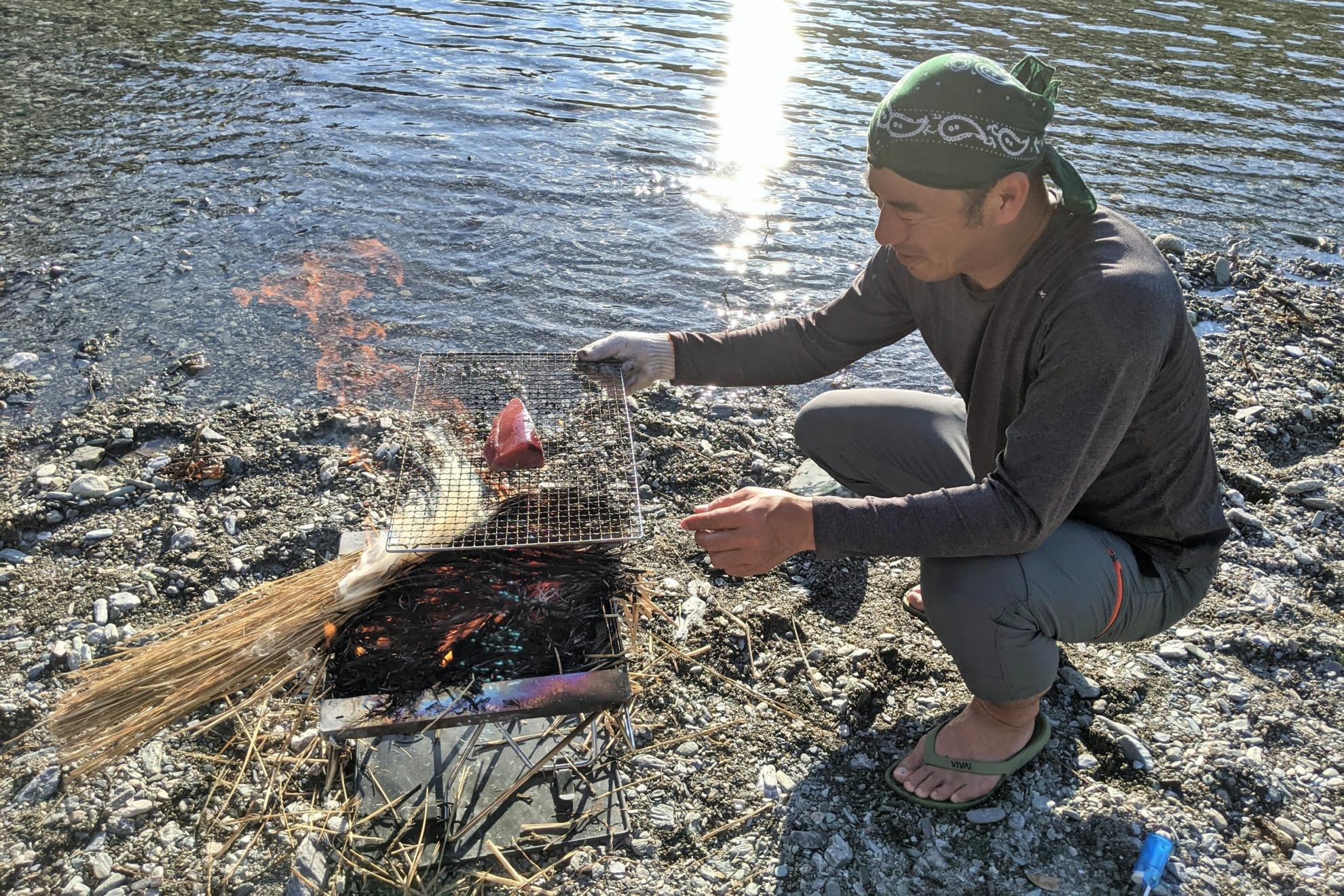 藁焼きたたき キャンプ